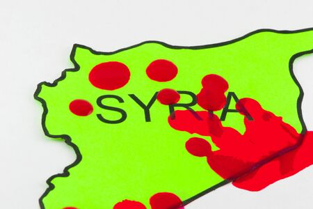 Bloodshed in Syria Stock Photo