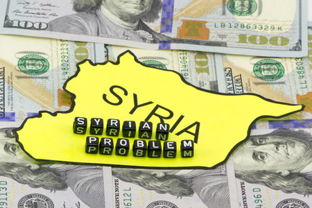 Syrian problem in the concept on the background Stock Photo