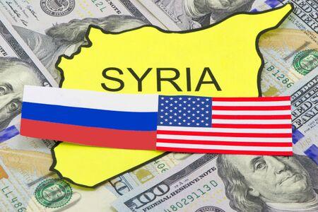 adversaries: US and Russian adversaries Syrian soil