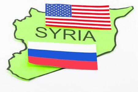 mapa conceptual: Estados Unidos y la guerra de Rusia en Siria