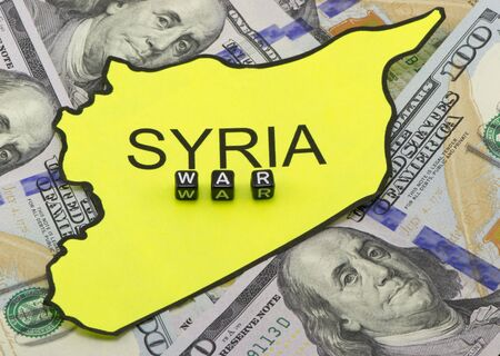 bloodshed: The war in Syria concept Stock Photo