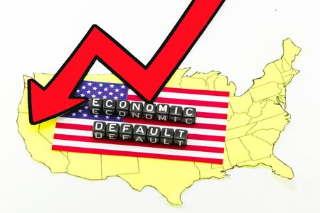 The default of the US economy Stock Photo