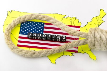 terrorist attack: Shooting people in the US Stock Photo