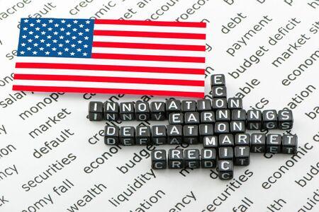 revival: US economic revival Stock Photo