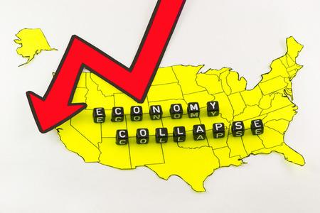 derrumbe: La economía de Estados Unidos está en colapso