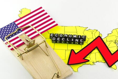 declining: The decline of the US financial system Stock Photo