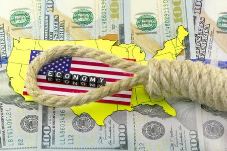 the loop: Lazo en el PIB de EE.UU. Foto de archivo