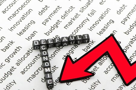 downfall: Economic downfall symbol Stock Photo