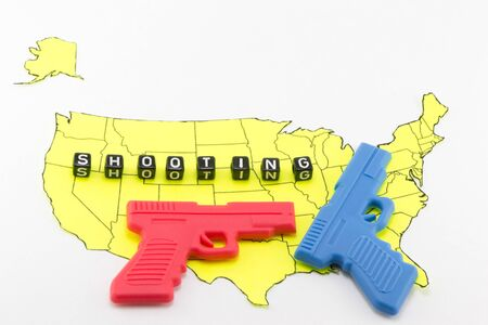 massacre: Resolution on weapons in the US Stock Photo