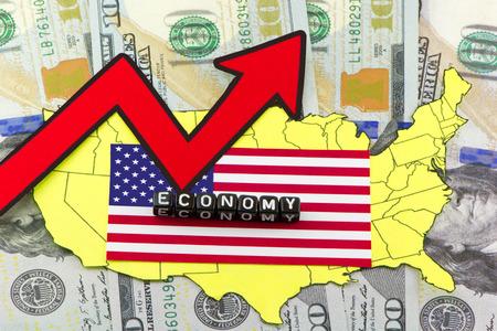 economic recovery: US economic recovery Stock Photo