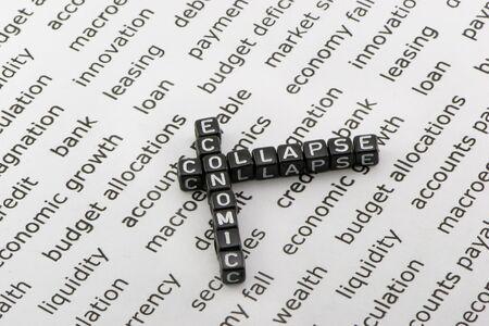 collapse: El colapso económico en el fondo de las palabras
