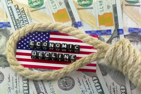 hinge: The hinge on the US economy Stock Photo