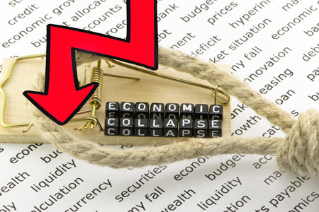 collapse: The collapse of the economy in the form of a symbol
