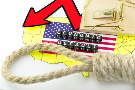 US economic problems concept