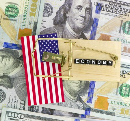 US economic stagnation concept