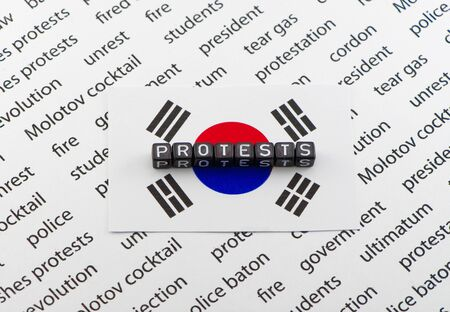 republic of korea: Protests against the President of the Republic of Korea