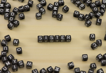The concept of the word sister Stock Photo