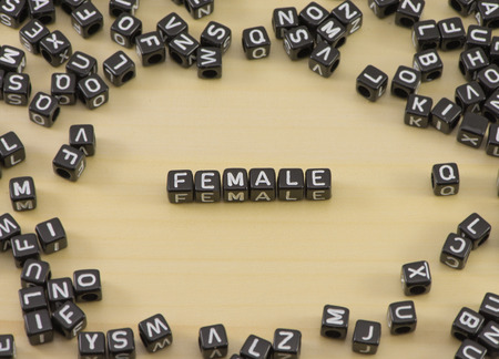 The concept of the words Female