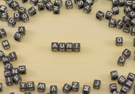 The concept of the words Aunt Stock Photo
