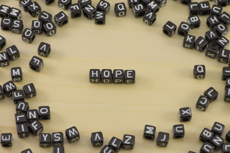 The concept of the word hope Stock Photo