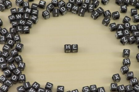 he no background: The concept of value of the word he