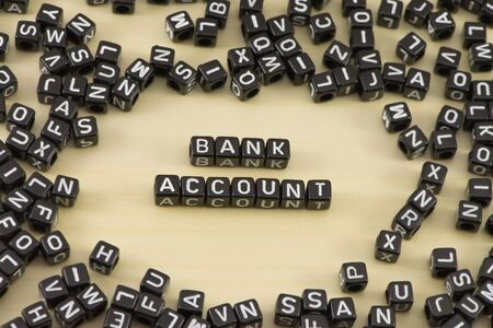 new account: The concept of the word bank account Stock Photo