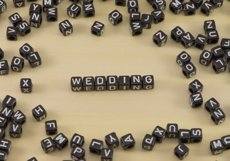 The concept of the word wedding rings
