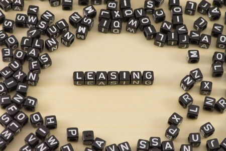 new account: The concept of the word leasing Stock Photo