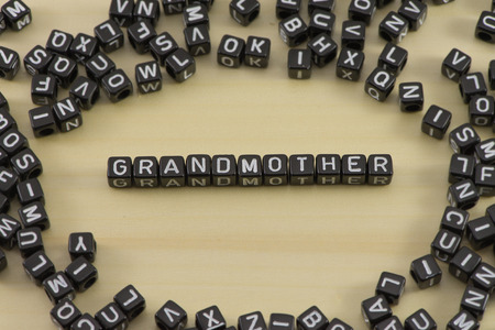 The concept of the words grandmother Stock Photo