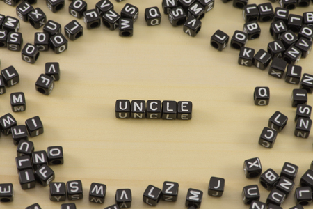 The concept of the words Uncle Stock Photo