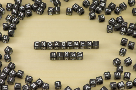 The concept of the word engagement rings