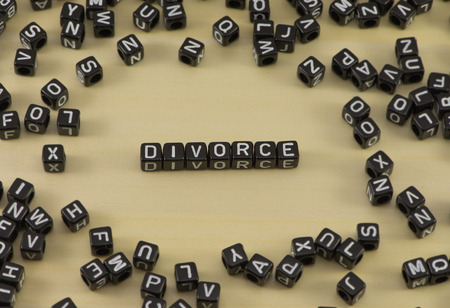 The concept of the word divorce Stock Photo