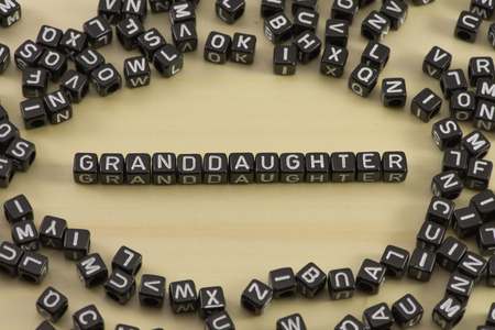 The concept of the words Granddaughter Stock Photo
