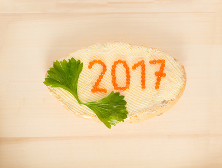 The concept of the New Year 2017 Stock Photo