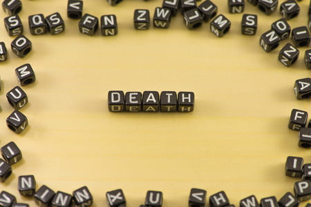 wrongful: The word death on wood background Stock Photo