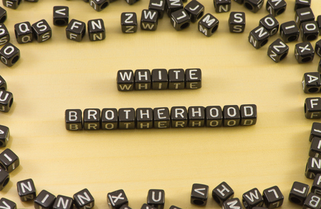 fraternidad: The word brotherhood on wood background Foto de archivo