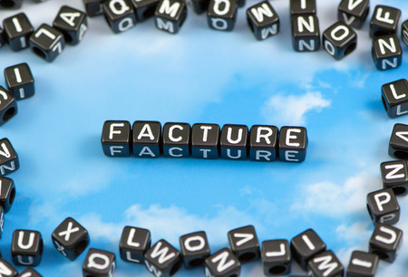 cast: The word fracture on the sky background