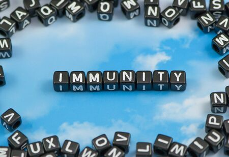 The word Immunity on the sky background