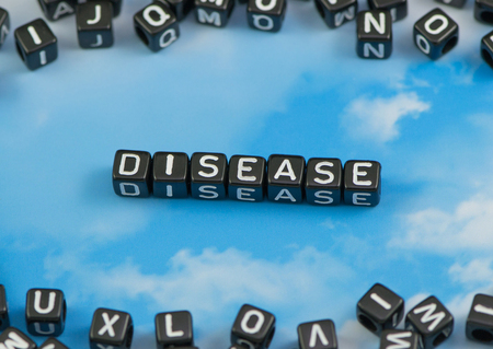 The word Disease on the sky background Stock Photo