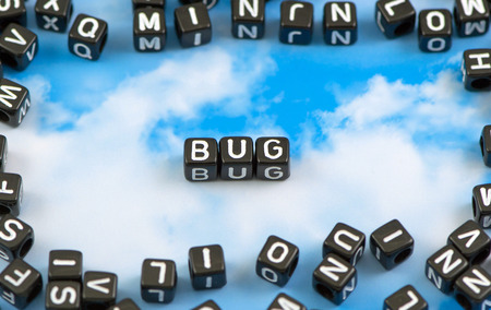 ovule: The word bug on the sky background