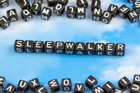 The word sleepwalker on the sky background Stock Photo