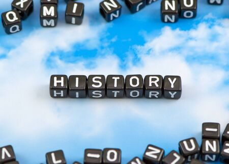 The word history on the sky background Stock Photo