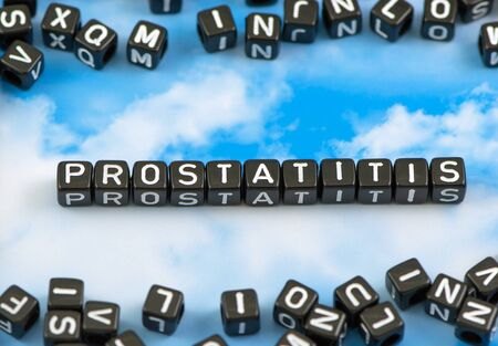 The word Prostatitis on the sky background Stock Photo