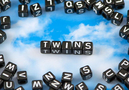 The word Twins on the sky background