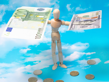 account data: Exchange rate of dollar and euro