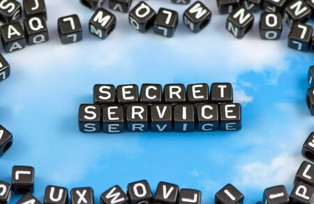 The word secret service on the sky background Stock Photo