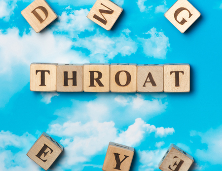 The word Throat on the sky background