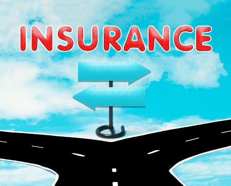 dilemma: The dilemma in the symbol of of insurance Stock Photo