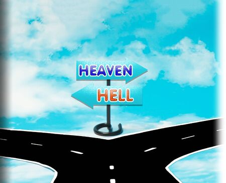 dilemma: The dilemma in the choice of heaven or hell in the symbol