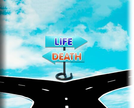 life and death: The choice between life and death in the symbol